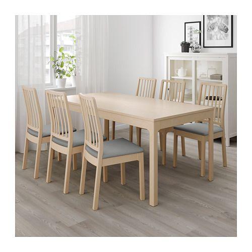 ekedalen extendable table birch ikea in 2019 dinner table table rh pinterest com