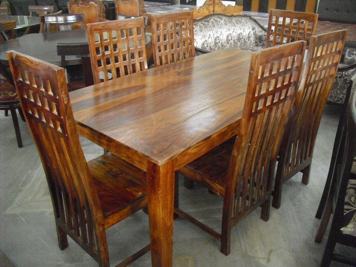 6 Seater Dining Table In Sheesham Wood Usedfurnituresin