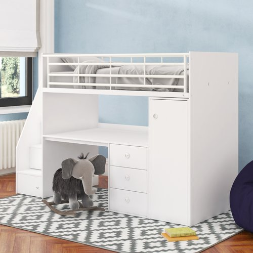 Sarah Single High Sleeper Bed With Workstation Riley Ave