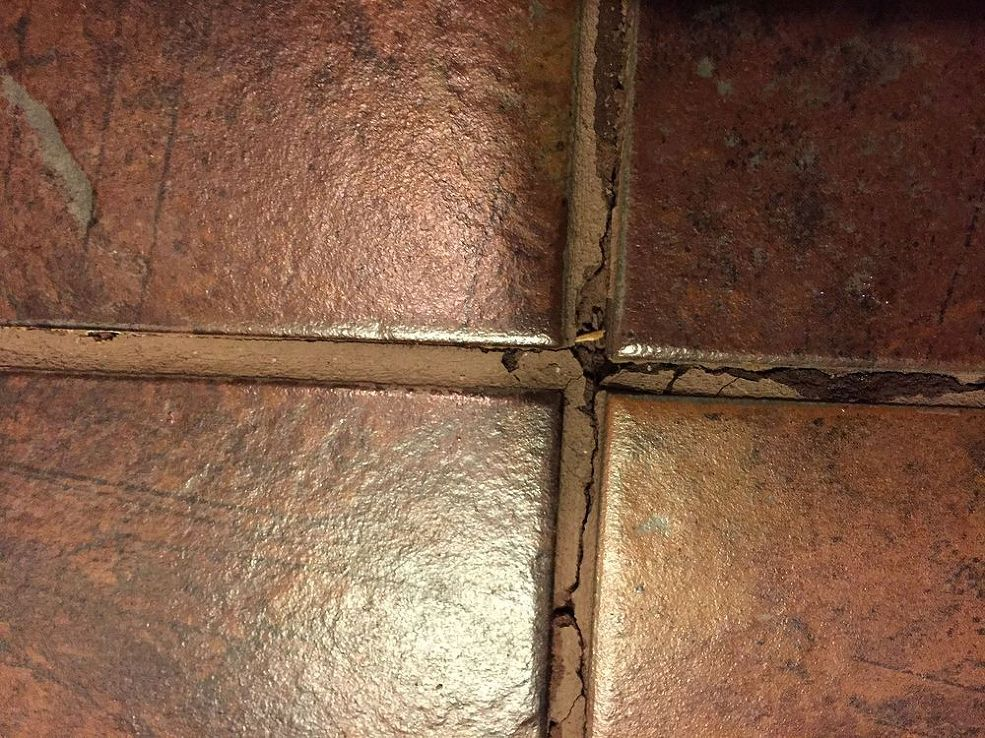fixing bathroom floor tile grout after toilet leak hometalk diy rh pinterest cl