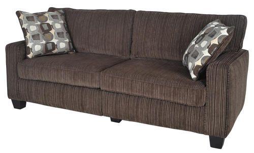 Serta San Paolo Collection 73 Sofa At Menards Brown Fabric Sofa