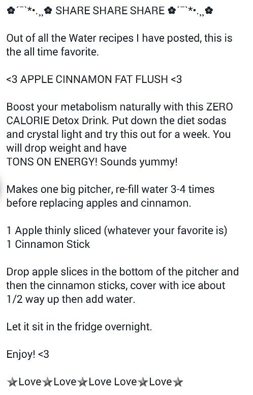 Apple Cinnamon Far Flush Water Water Recipes Healthy Snacks