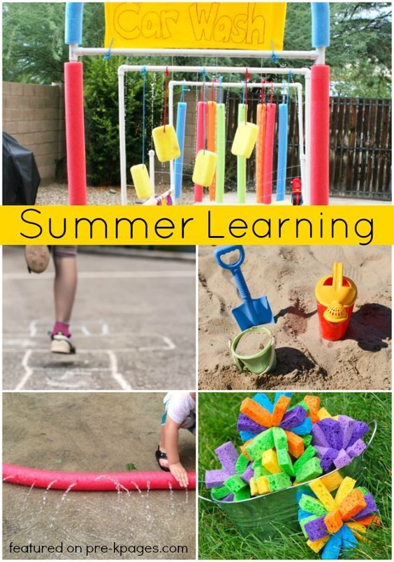 Summer Learning Activities for Preschool. Awesome activities to get kids outside AND learning during the summer! Perfect for preschool or kindergarten kids. - Pre-K Pages