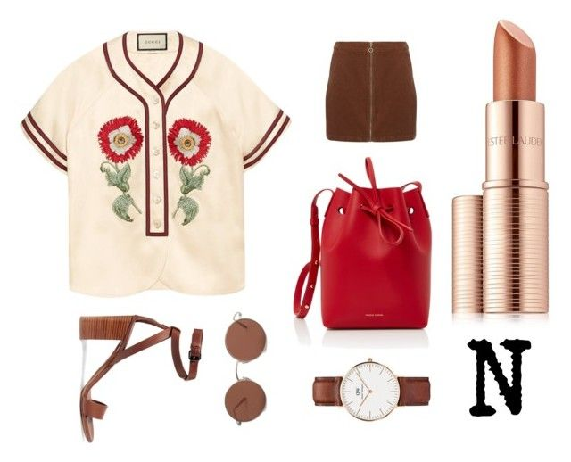 """N"" by thelomthethwa on Polyvore featuring Gucci, Vince, Mansur Gavriel, Dorothy Perkins, The Row, Daniel Wellington and Estée Lauder"