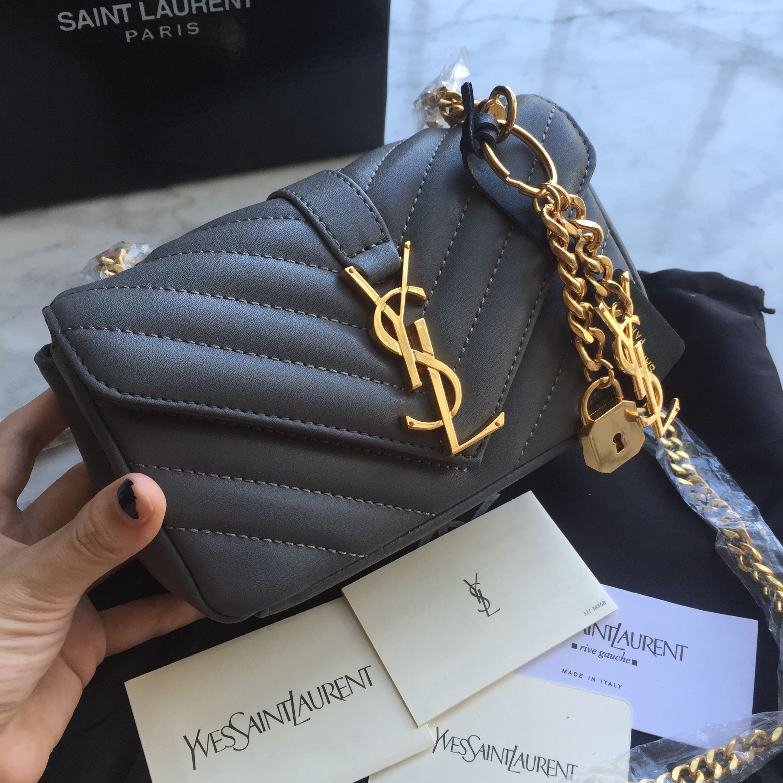 3720009ea24 YSL Saint Laurent slp chain bag woman bag small size 17cm | Bags in ...