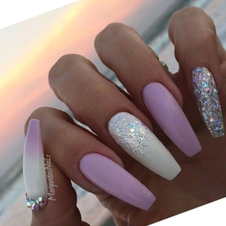 Lavender Nail Design Nyreeleather Com Nail Desing Design Desing Lavender Nail Nyre Purple And Silver Nails Light Blue Nails White And Silver Nails