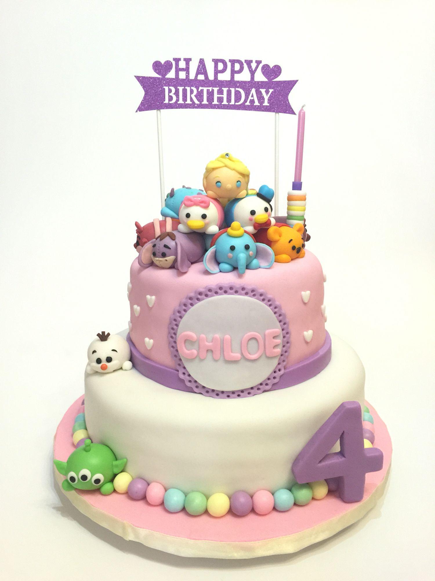 Tsum Tsum Birthday Cake Bakery Library Pinterest