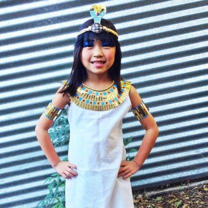 Diy Cleopatra Green Halloween Costume Kids Crafts