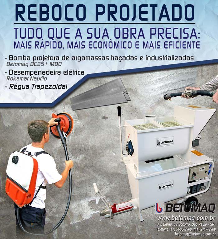 Equipamento para mistura e bombeamento de argamassa traçadas em obra e industrializadas.