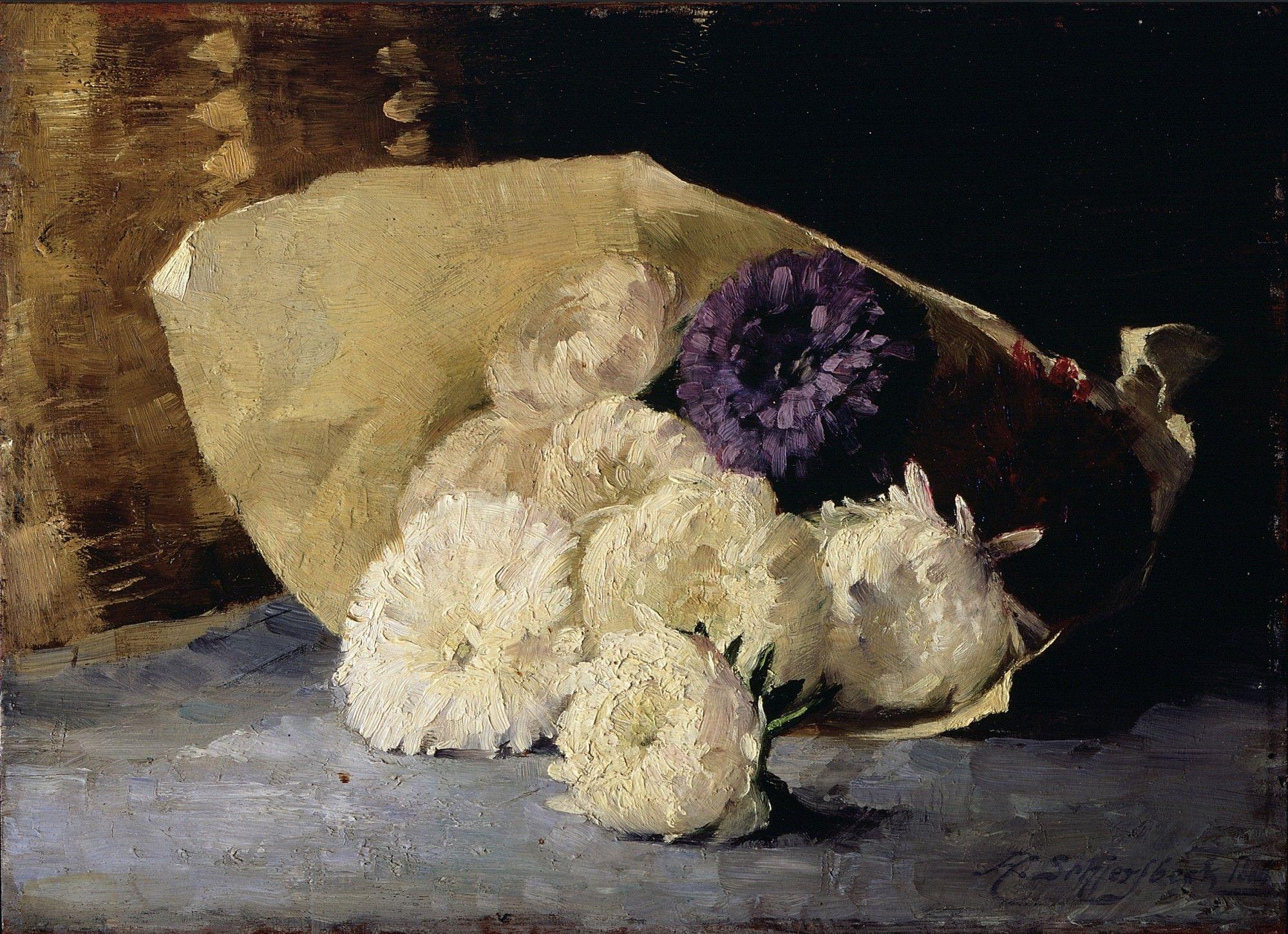 Helene Schjerfbeck. 1862 - 1946. Astereita, 1884