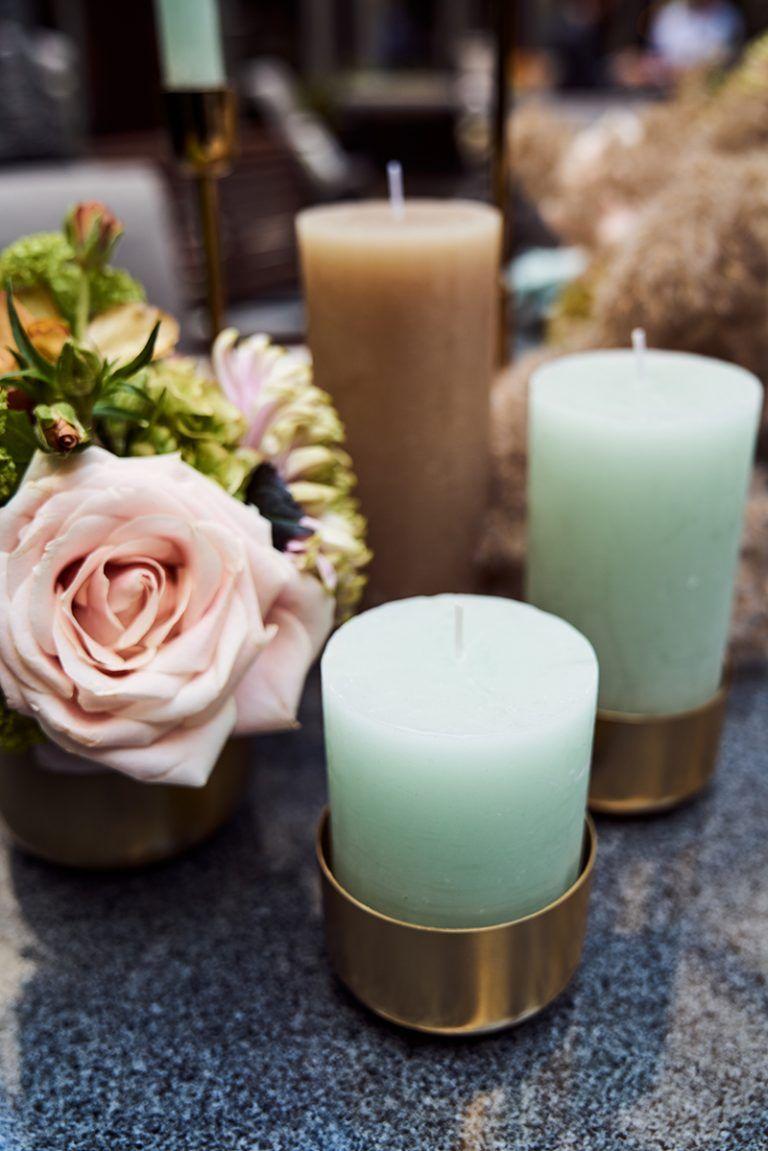 Rustic Mint Details Rustic Wedding Candles