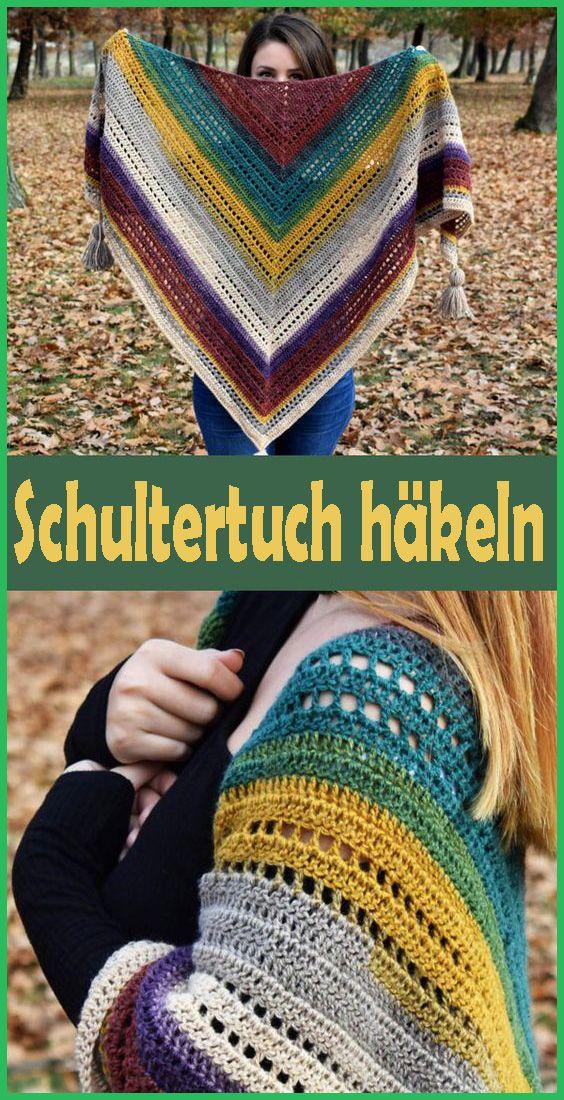 Photo of Schultertuch häkeln – kostenlose & einfache Anleitung