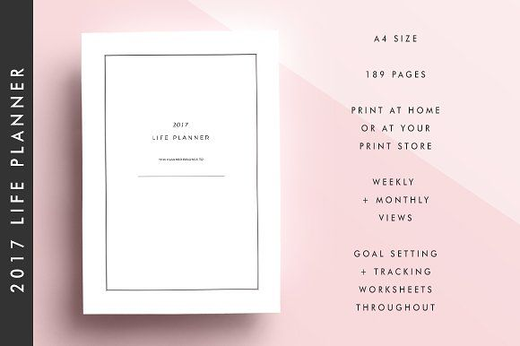 Life Planner Printable By Plan It Girl On Creativemarket