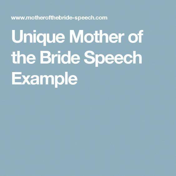 Unique Mother Of The Bride Speech Example #groomspeech