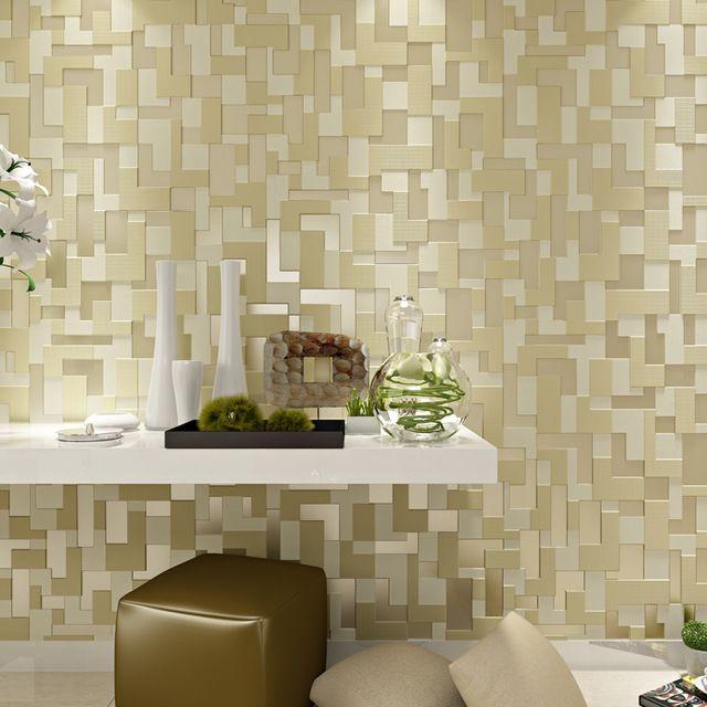 Modern papel de parede 3d estereosc pico mosaico papel de for Mosaico adesivo 3d