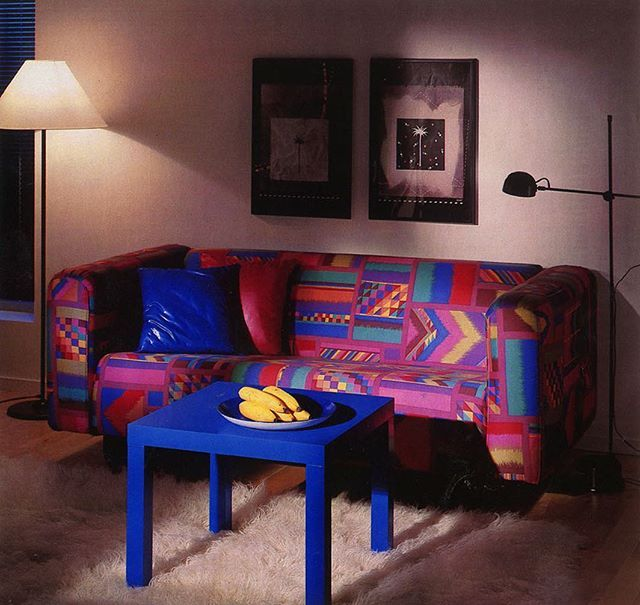 Ikea 1987 Sofa 80s Decor Vintage Interior Decor Retro Interior