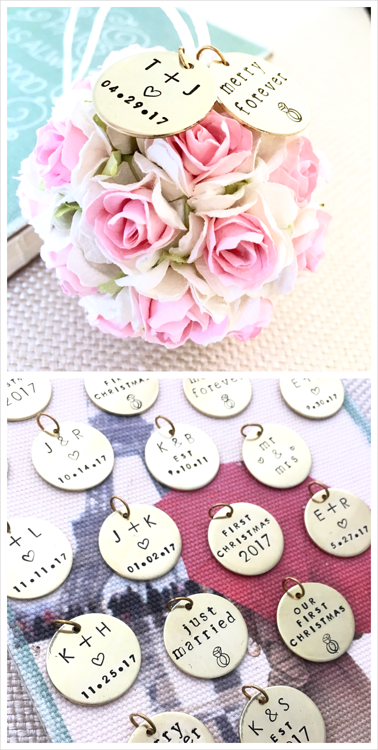 Our First Christmas Ornament | Personalized Wedding Gift (Blush Pink ...