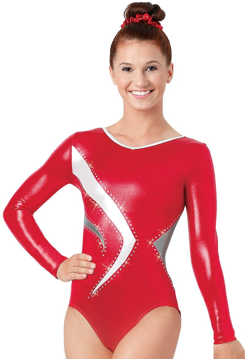 65d28f25995e Long-Sleeve Metallic Leotard