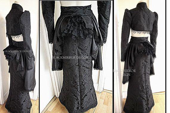 Victorian over bustle skirt drape by blackmirrordesign on Etsy