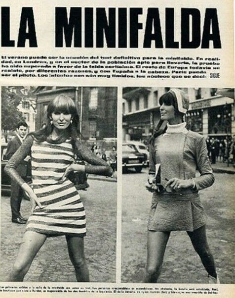 ef2ba00c7 Minifalda. Moda de la época | 1964 | Mini faldas, Moda y Historia de ...