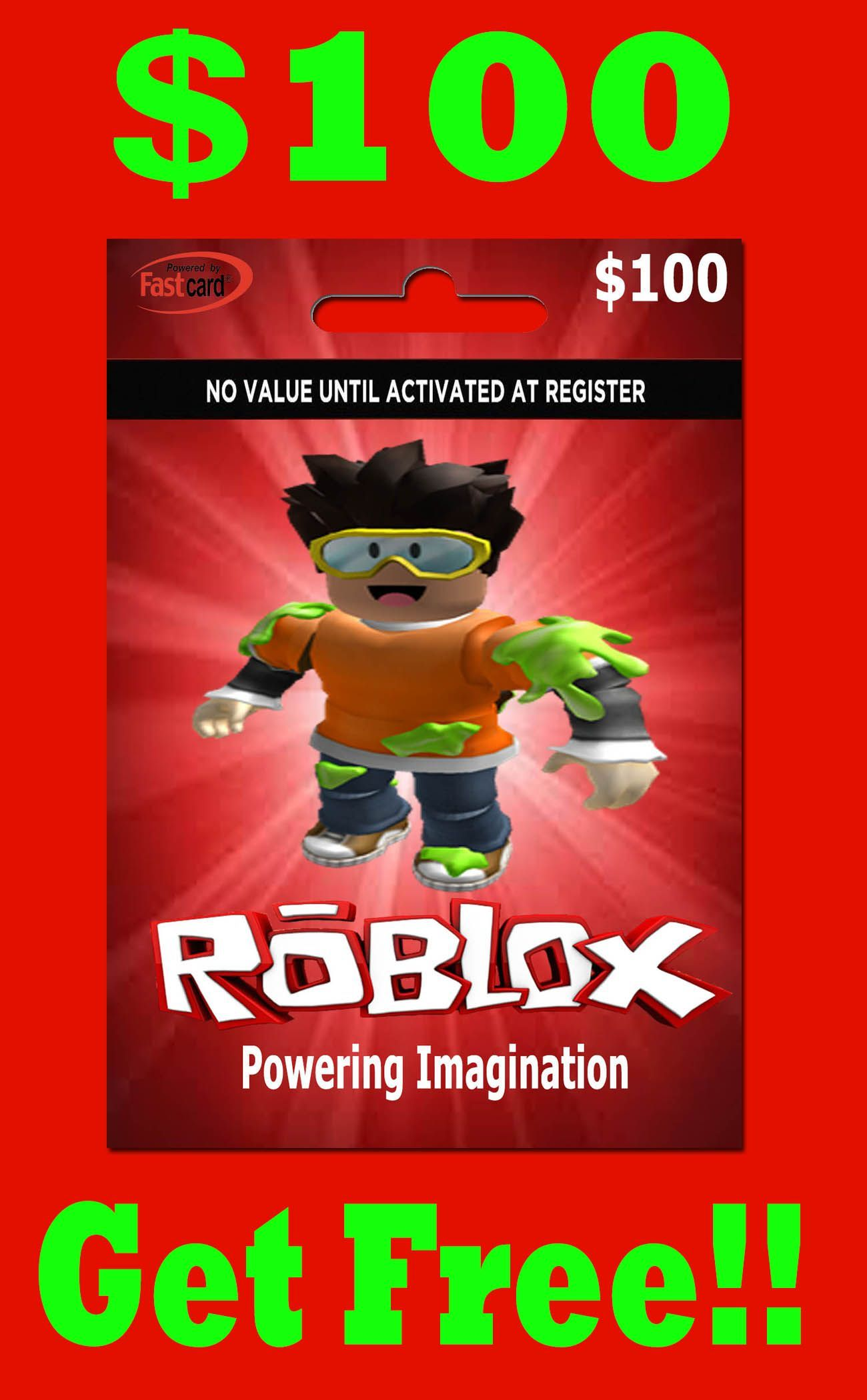 $100 free Roblox gift cards Gift cards offers in 2021 Roblox