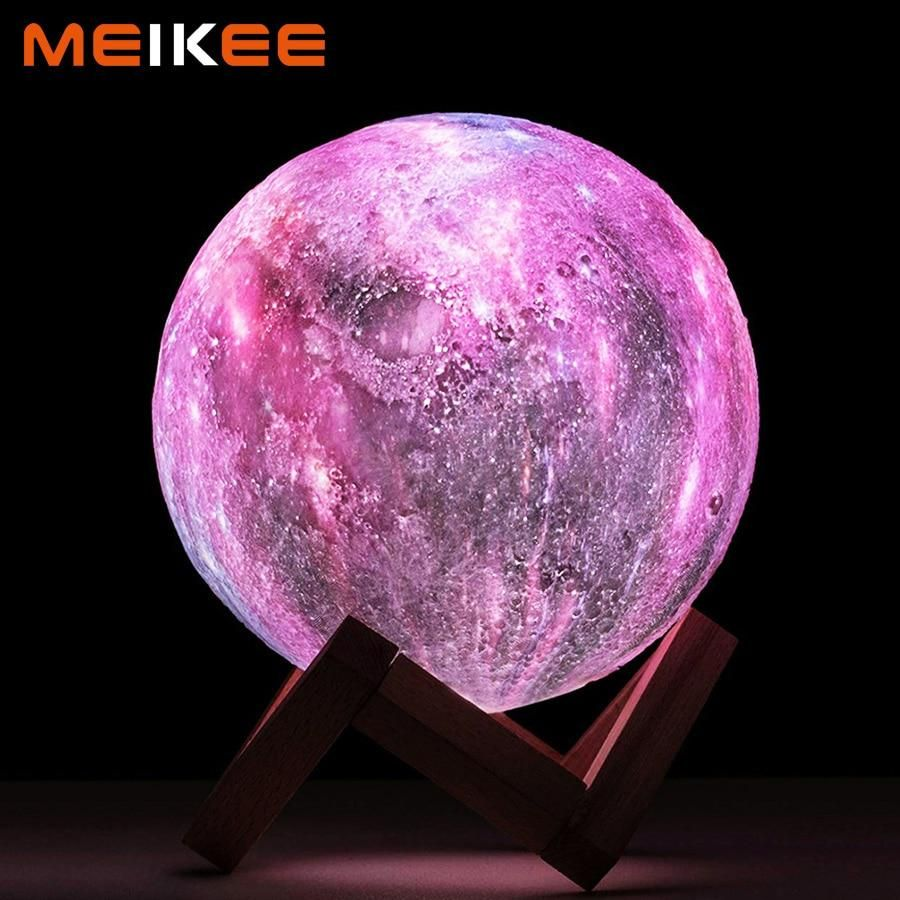 Galaxy Print Moon Lamp Galaxy Lights Color Changing Led Luminous Decor
