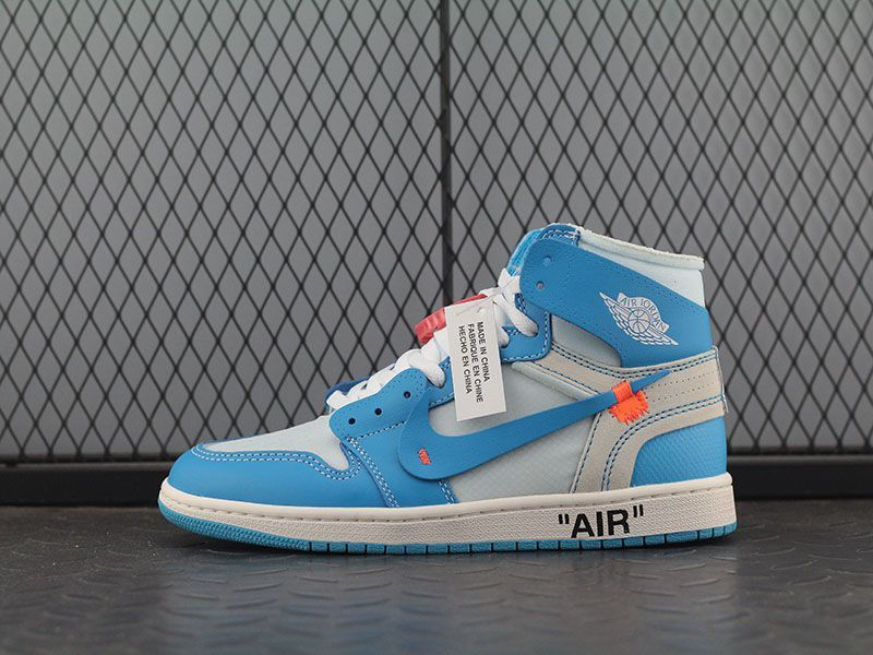 Off White X Air Jordan 1 Powder Blue Off White Shoes Air