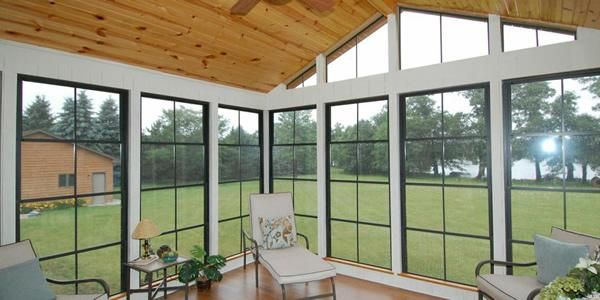 Eze Breeze Vinyl Panels To Winterize A Screened In Porch Cerramiento Porches Con Techo
