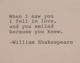 Items Similar To William Shakespeare Love Quote Romeo And Juliet Hand Typed On Antique Romeo And Juliet Quotes Letters To Juliet Quotes Typewriter Quotes Love