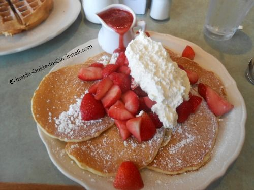 Strawberry pancakes at the original pancake house yum cincinnati the original pancake house in cincinnati must make the short list for terrific breakfast food ccuart Gallery