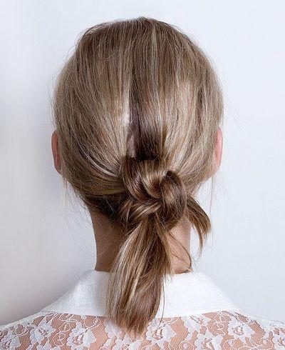 Le noeud de cheveux, une bonne alternative au chignon