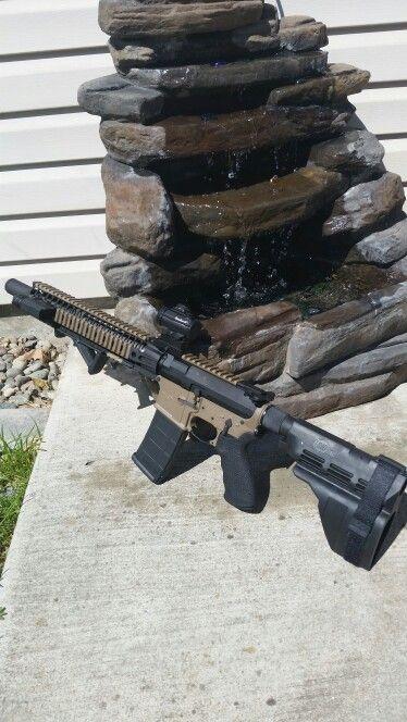 Seekins AR, 11 5 barrel, Sig Tac arm brace, Bushnell micro