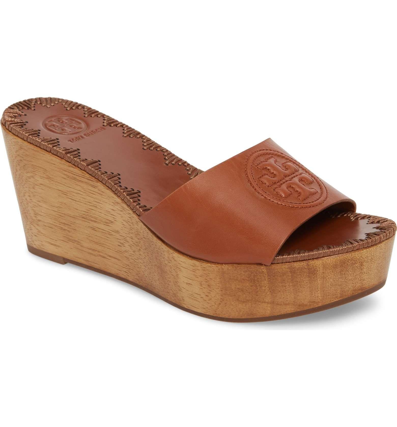 d5992a20a55dd2 Main Image - Tory Burch Patty Logo Platform Wedge Sandal (Women ...