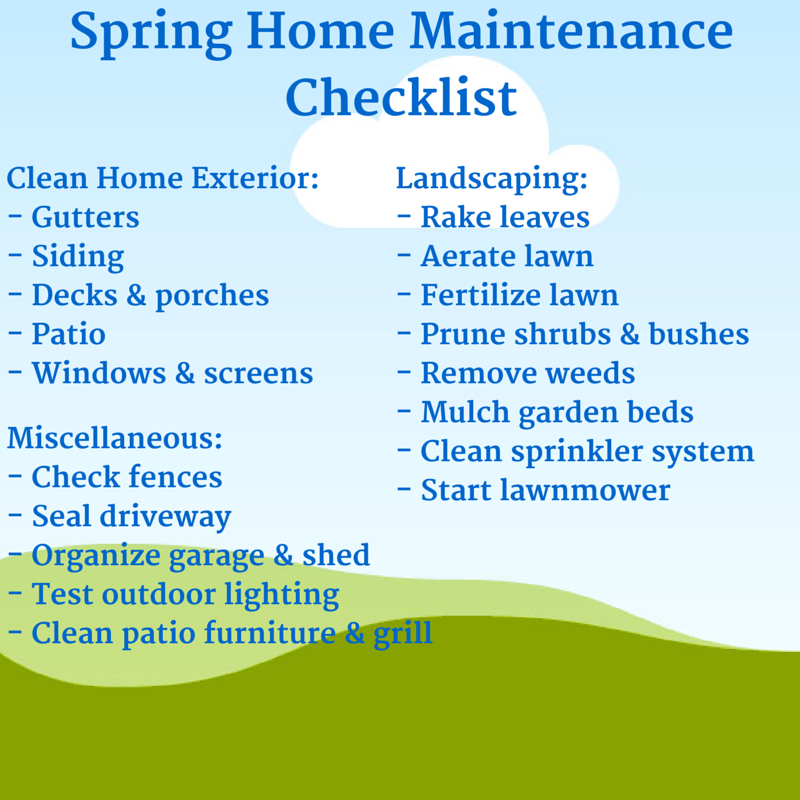 spring-home-maintenance-checklist (800×800) | spring home and