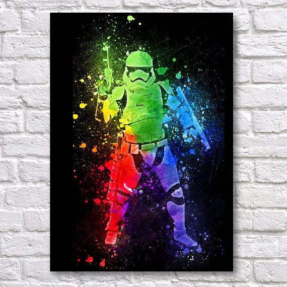 Star Wars Stormtrooper Abstract Painting A Wall Art Prints Fine Art Posters Use Coupon