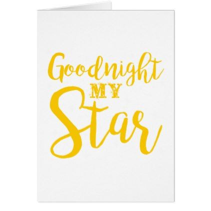 Goodnight my star holiday card   Zazzle com   christmas