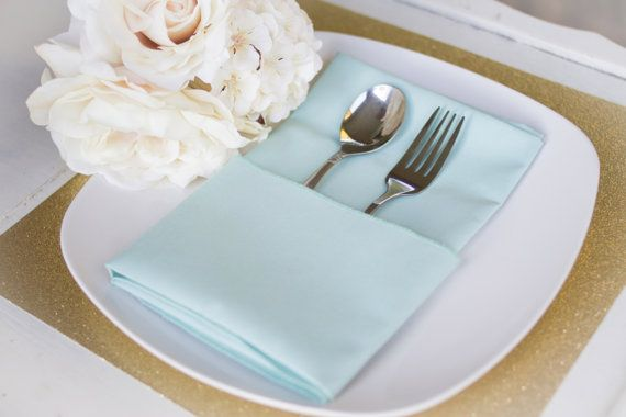Mint Green Custom Wedding Napkins by ForeveryMomentCrafts on Etsy, $3.00