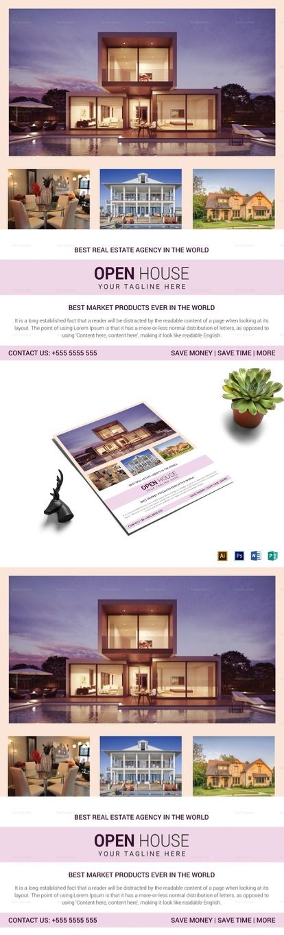 Real Estate Agency Open House Flyer Template | ➱ ➱ Real Estate ...