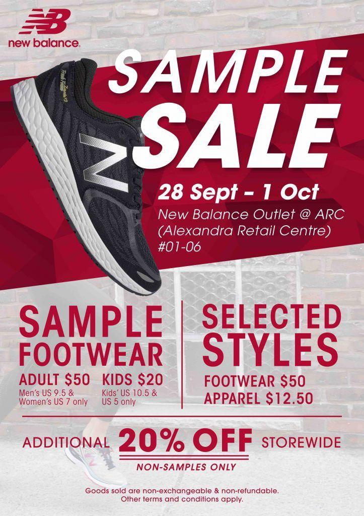 641e048c28ec New Balance ARC Singapore Sample Sale Promotion 28 Sep - 1 Oct 2017 ...