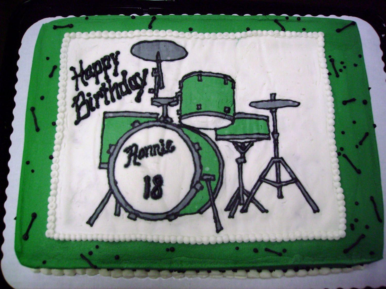 Sensational Drum Set Cake Drum Birthday Cakes Drum Cake Music Birthday Cakes Funny Birthday Cards Online Aboleapandamsfinfo
