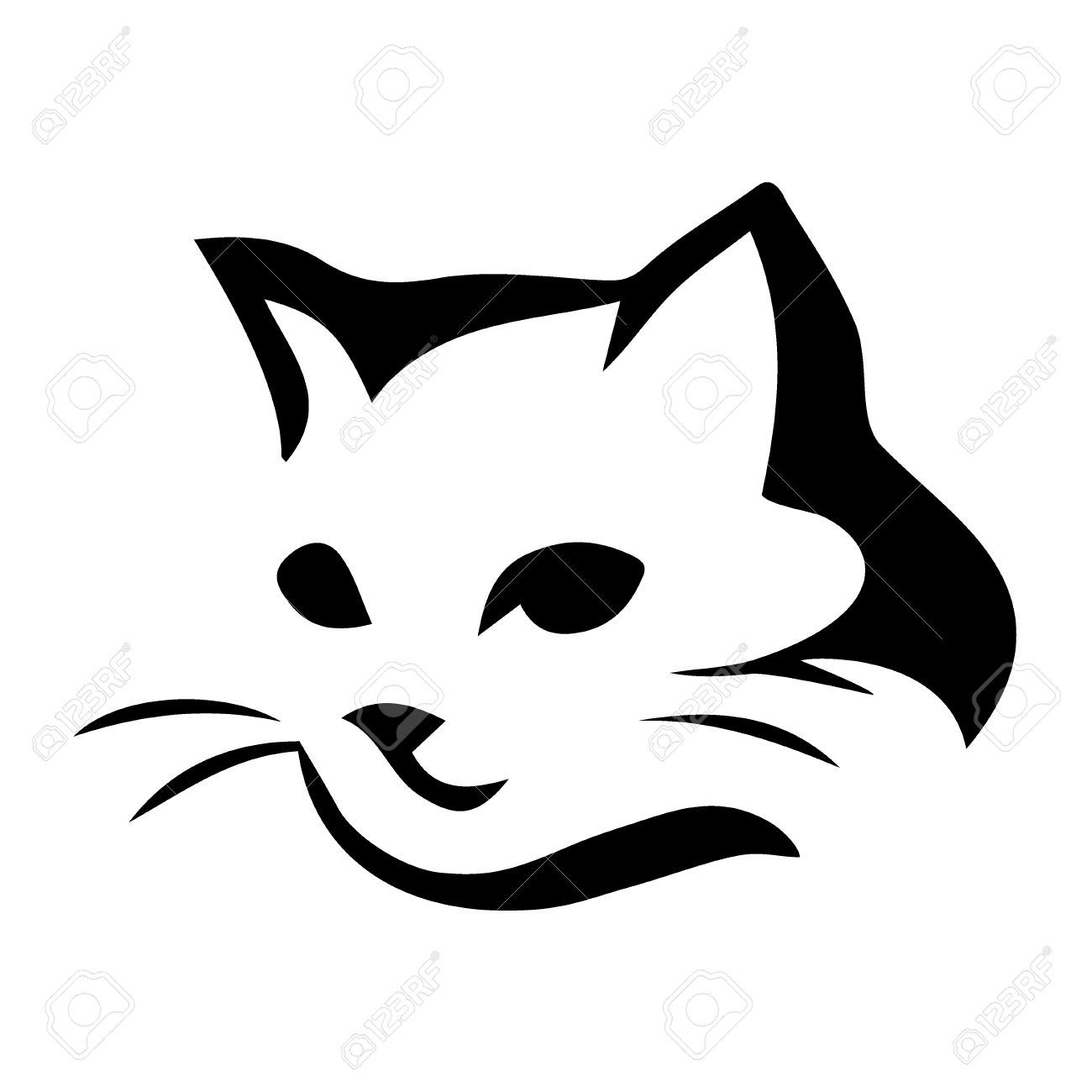 Black And White Cat Icon 92107 Free Icons Library Cartoon Cat Drawing Cat Tattoo Black Cat Tattoos