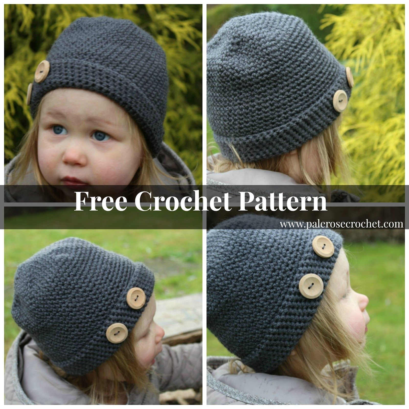 Pale Rose Crochet: Free Crochet Pattern - Toddler Cloche Hat For ...