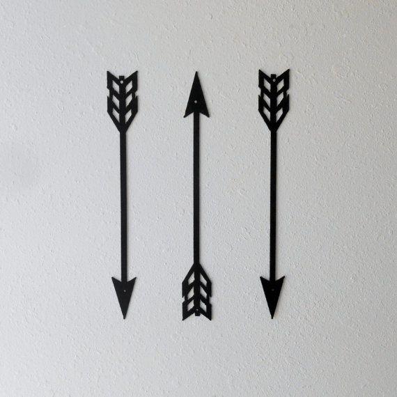 Arrows / Metal Art / Wall Decor / Set of Three / Home Decor ...