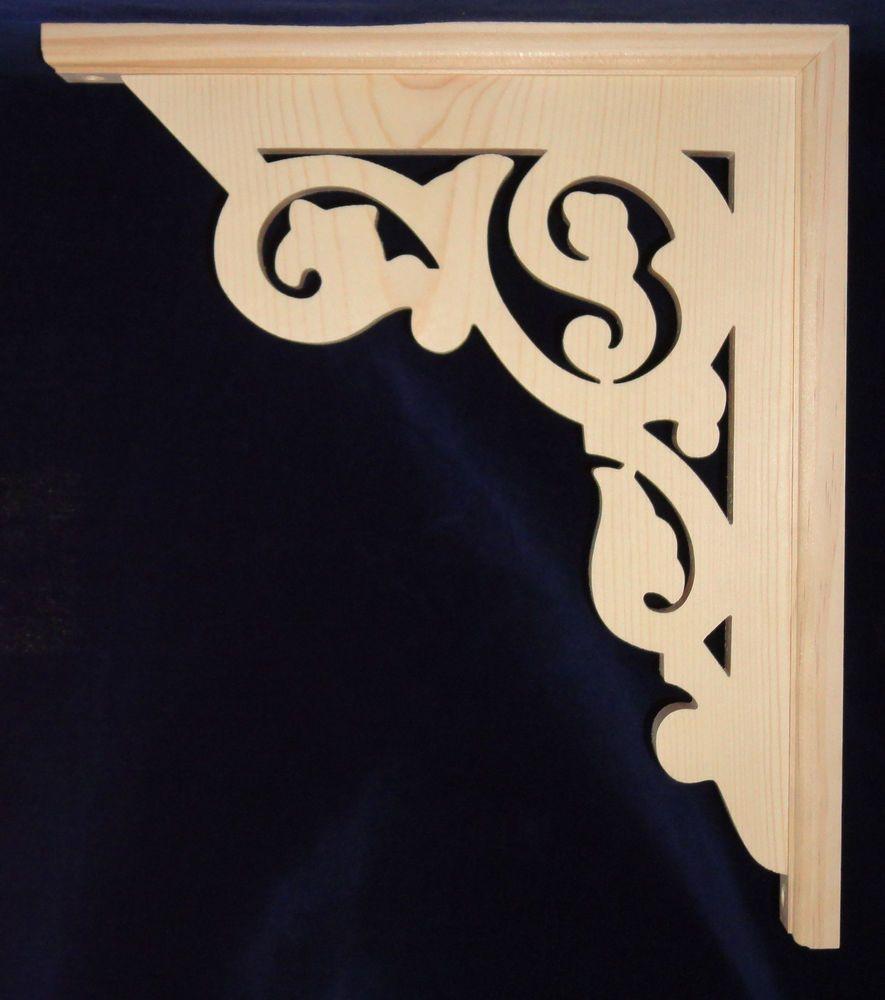 "L/&G/'s Victorian Gingerbread Fretwork Corner Trim or Porch Bracket 12/"""