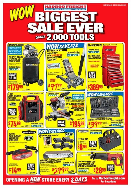 Harbor Freight Tools Monthly Ad March, 2019