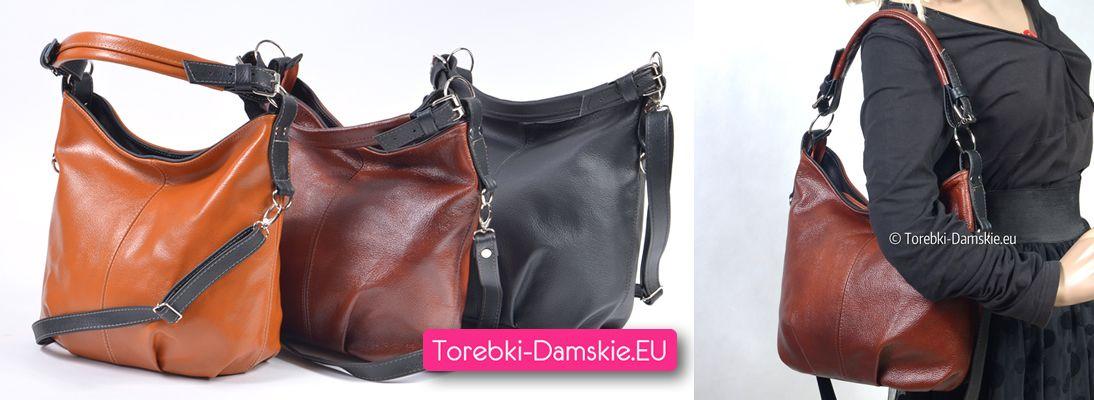 Nowy model polskie torebki skórzane dostępne w trzech