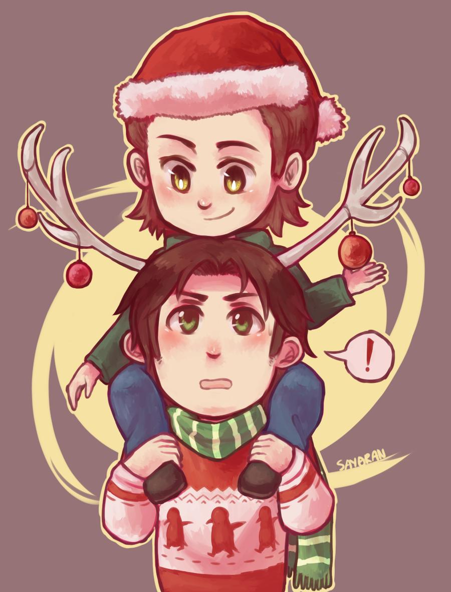 SPN - Christmas Moose by say0ran.deviantart.com on @deviantART