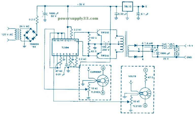 Isolated Feedback Smps 5vdc 1 5a Power Supply Circuits