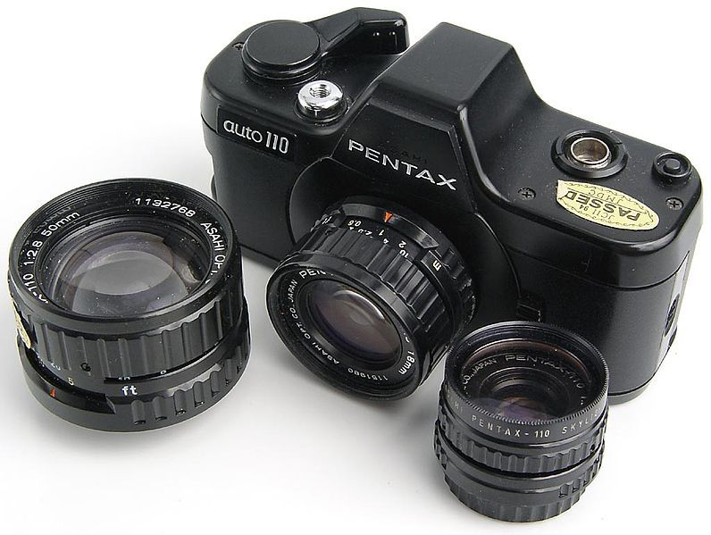 I wanted this camera so bad when I was a kid. Interchangeable lenses with crappy 110 film.