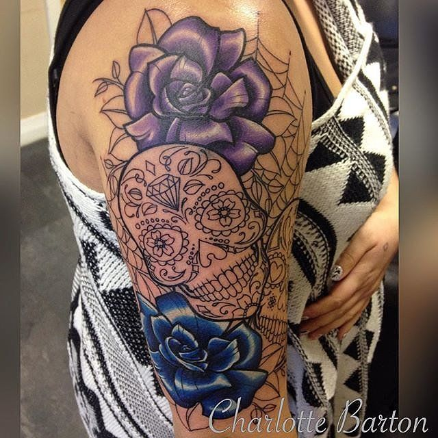 25 Meaningful Sugar Skull Tattoos Youll Want To Get